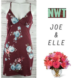 Joe & Elle Floral Bodycon Dress Medium NWT